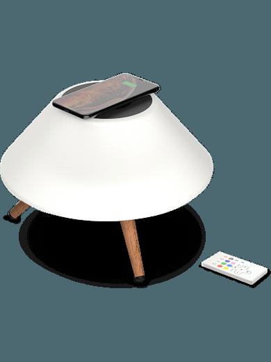 freenet Bascis Monolight Speaker (Nachttischlampe) weiß