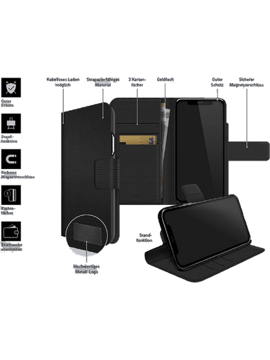 BlackRock Wallet 2in1 Galaxy A52 (schwarz)