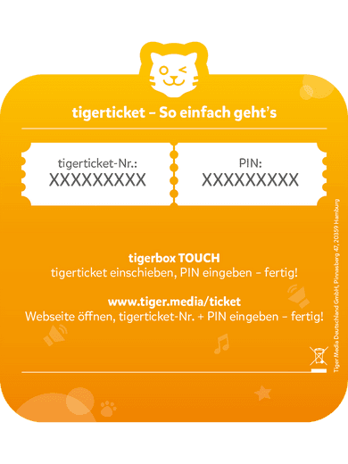 tigerticket - 3 Monate