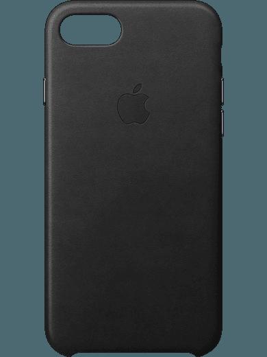 Apple Leather Case für iPhone 6+/6s+/7+/8+ schwarz
