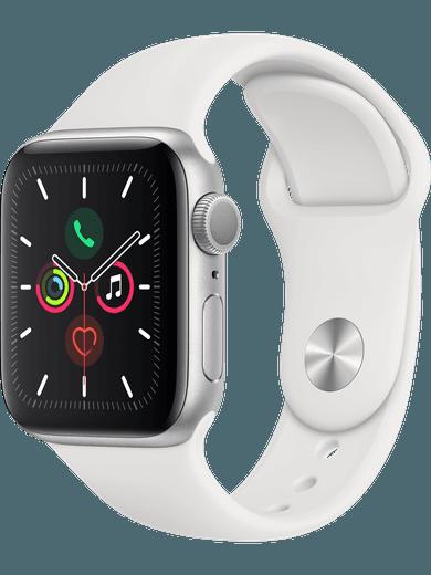 Apple Watch Series 5 GPS 44mm weiss Sportarmband