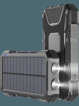 4smarts Solar Powerbank TitanPack 20.000 mAH schwarz