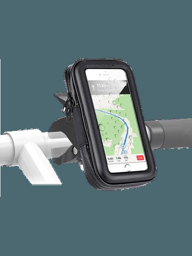 freenet Basics Fahrradhalterung + Tasche bis 6.5 Zoll schwarz