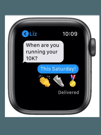 Apple Watch SE GPS 40mm schwarz Sportarmband