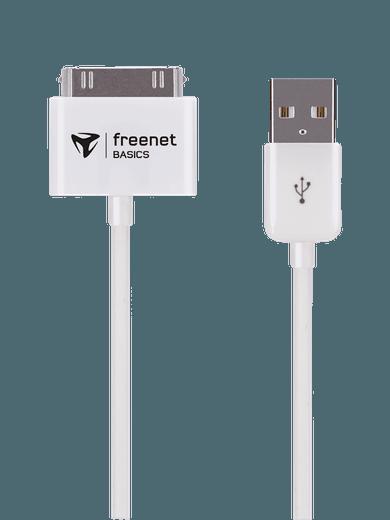 freenet Basics Lade- & Datenkabel 30pin 100cm Weiß