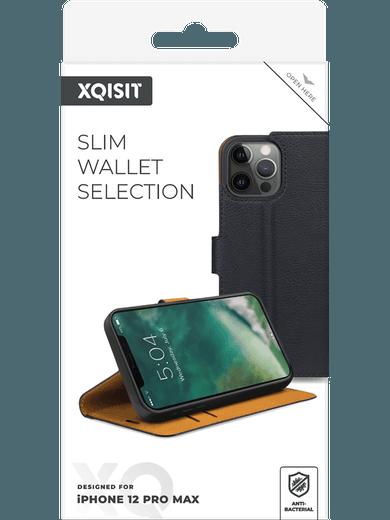 XQISIT Slim Wallet Selection iPhone 12 Pro Max (schwarz)