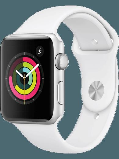 Apple Watch Series 3 GPS 42mm Sportarmband weiss