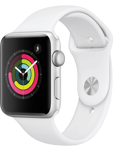 Apple Watch Series 3 GPS 38mm Sportarmband weiss