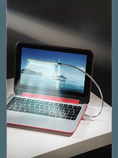 hama Notebook-Licht Schwanenhals (10 dimmbare LEDs + Touch-Sensor)