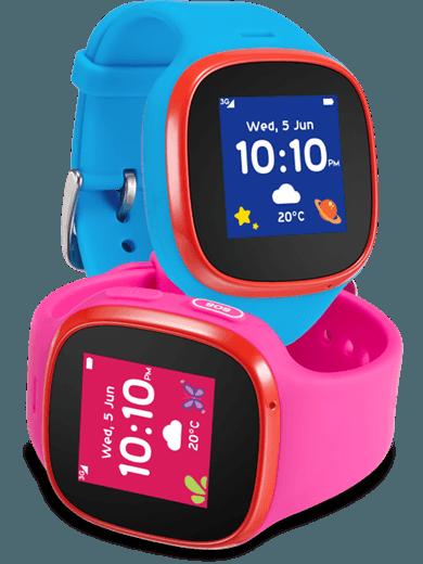 Alcatel Movetime Family Watch MT30 rosa und blau