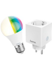 Hama Smarthome Set: 3 WiFi-LED-Lampen und 3 WiFi-Steckdosen 3378209