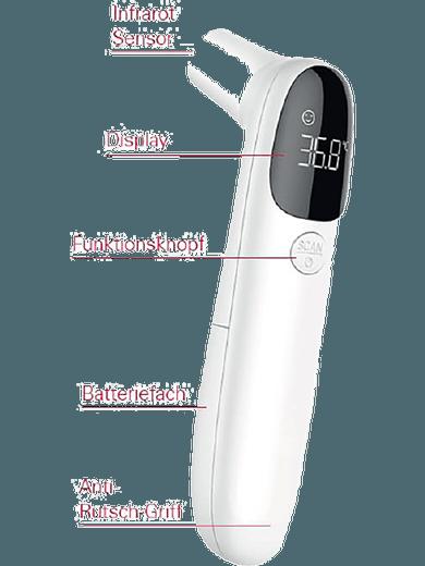 Emporia kontaktloses Fieberthermometer (weiß)