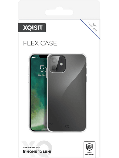 XQISIT Flex Case iPhone 12 mini (transparent)