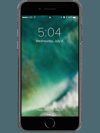 XQISIT Stoff-Case iPhone 6/6s/7/8/SE (2020) grau