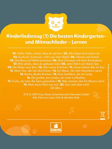 tigercard - Kinderliederzug 1: Kindergarten-/Mitmachlieder - Lernen