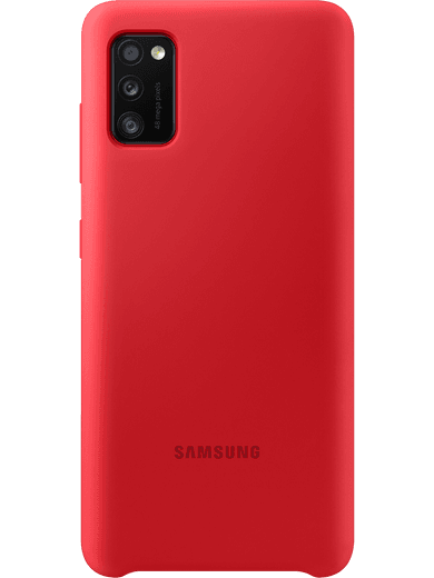 Samsung EF-PA415 Silicone-Cover Samsung Galaxy A41 (rot)
