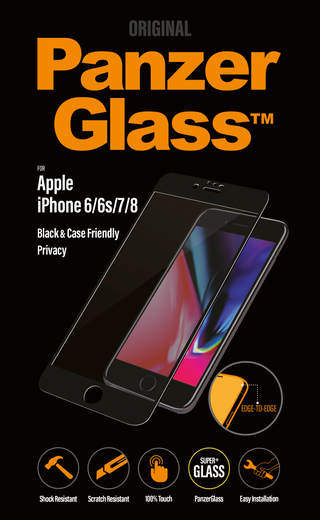 PanzerGlass Case Friendly Privacy iPhone 6/6s/7/8