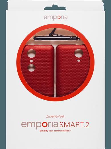 emporia S2 Zubehörset Stylus + 2 Cover red