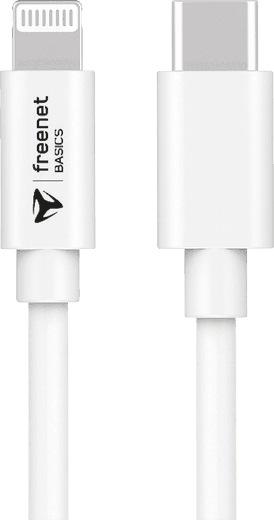 freenet Basics Lightning/USB-C Kabel 1,5m (weiß)