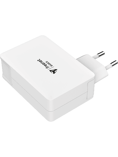 freenet Basics Power Delivery Travel-Charger USB-C/USB-A (white)