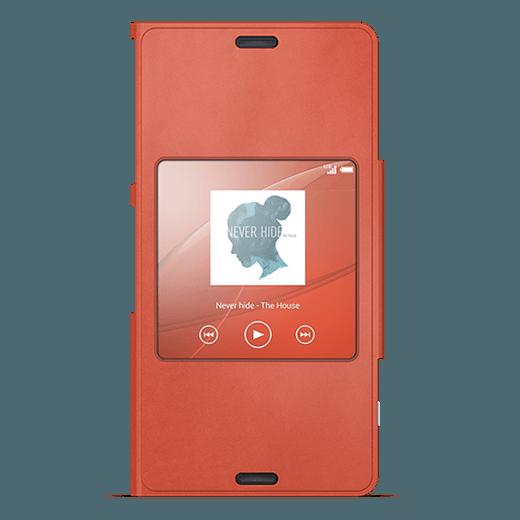 Sony SCR26 BookCover mandarinrot Sony Xperia Z3 Compact